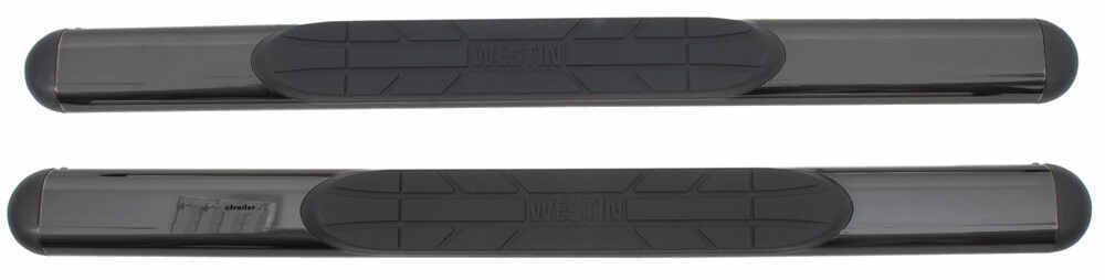 "Westin Oval Nerf Bars w/ Custom Installation Kit - 4"" Wide - Black Powder Coated Steel 4 Inch Width 22-5005-2055"