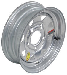 "Taskmaster Steel 8-Spoke Trailer Wheel - 12"" x 4"" Rim - 5 on 4-1/2 - Galvanized"