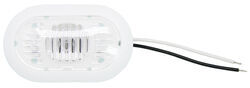 Optronics RV Courtesy Light - 2 Wire - Oval - Incandescent - Clear Lens w/White Base