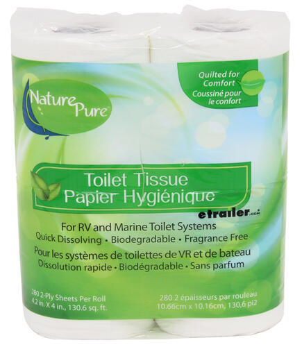 Nature Pure RV and Marine Toilet Paper - Septic Safe - 2 Ply - 280 ...
