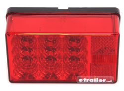 6x4 Inch LED Trailer Tail Lights that Mount on Studs on 2 Inch