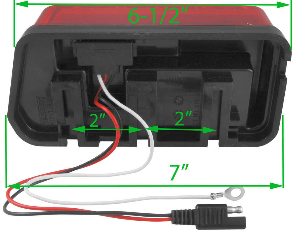 Wraparound Led Tail Light For Trailers Over 80 7 Function As Well Eagle Boat Sale On Trailer Wiring Submersible Red Passenger Wesbar Lights 271594