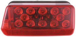 "Wraparound LED Tail Light for Trailers Over 80"" - 8 Function - Submersible - Red - Driver"