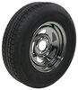 "Castle Rock ST205/75R14 Radial Trailer Tire w/ 14"" Silver PVD Wheel - 5 on 4-1/2 - LR C 205/75-14 274-000001"