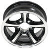 "Aluminum Bearcat Trailer Wheel - 14"" x 5-1/2"" Rim - 5 on 4-1/2 - Black 5 on 4-1/2 Inch 274-000003"