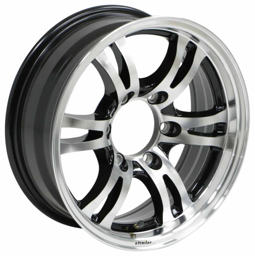 "Aluminum Jaguar Trailer Wheel - 16"" x 6"" Rim - 6 on 5-1/2 - Black 6 on 5-1/2 Inch 274-000011"