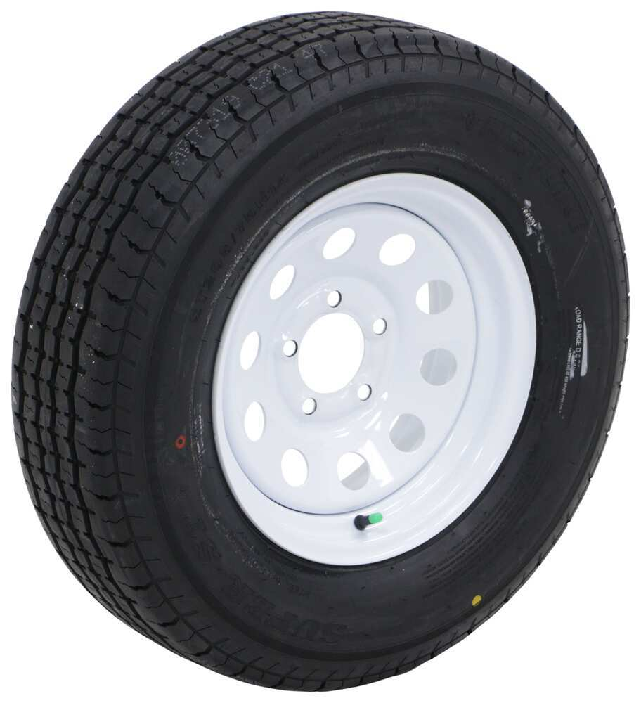 "Westlake ST205/75R14 Radial Trailer Tire w/ 14"" White Mod Wheel - 5 on 4-1/2 - Load Range D Standard Rust Resistance 274-000017"
