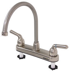 Patrick Distribution RV Kitchen Faucet - Dual Handle - Satin Nickel Finish