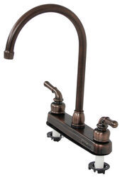 Ultra Faucets Dual Handle RV Kitchen Faucet - Oil Rubbed Bronze