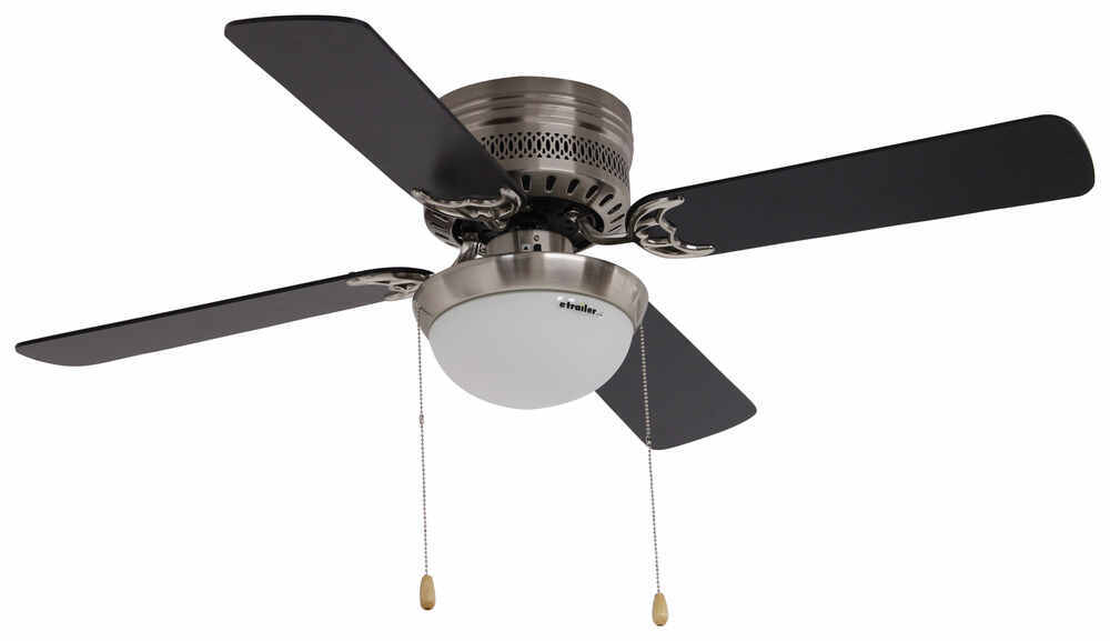 "42"" Hugger Style RV Ceiling Fan with Light Kit for RVs - Brushed ..."