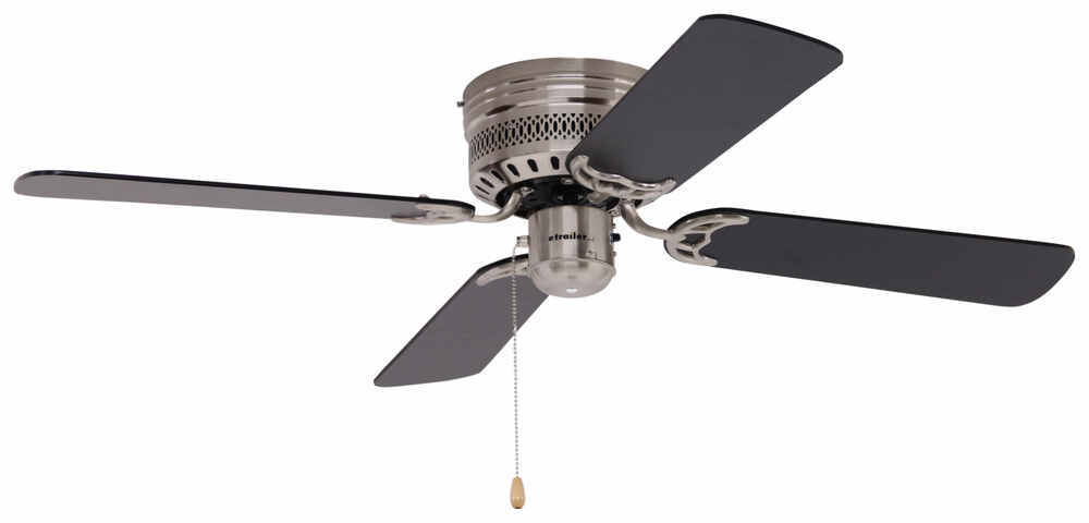 42 Quot Hugger Style Rv Ceiling Fan For Rvs Brushed Chrome