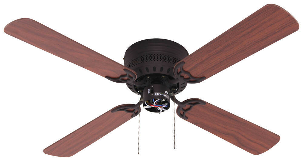 "42"" Hugger Style RV Ceiling Fan with Light Kit for RVs - Oil Rubbed ..."