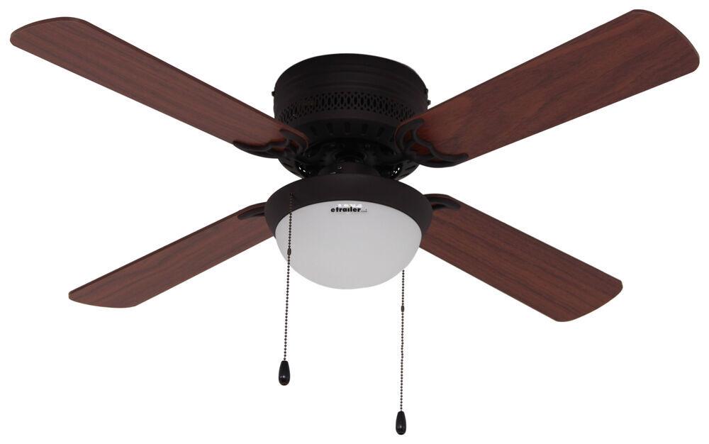 42 hugger style rv ceiling fan with light kit for rvs. Black Bedroom Furniture Sets. Home Design Ideas