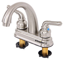 Dual Handle RV Bathroom Faucet - Brushed Nickel