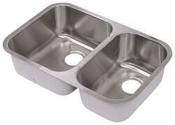 Patrick Distribution Offset Double Bowl Stainless Steel RV Kitchen Sink