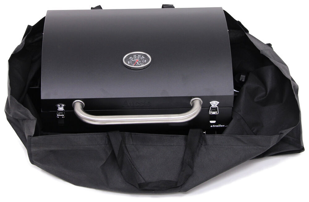 Portable Gas Grill With Carrying Bag Black Aussie Grills