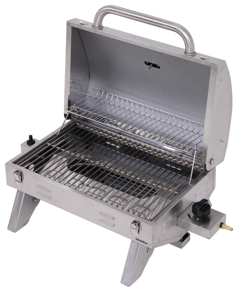 Portable Gas Grill with Carrying Bag - Stainless Steel ...
