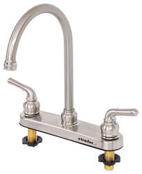 Dual Handle RV Kitchen Faucet   Brushed Nickel