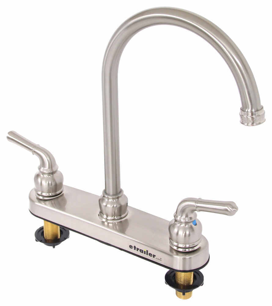 Dual Handle Rv Kitchen Faucet Brushed Nickel Patrick Distribution Rv Faucets 277 000094