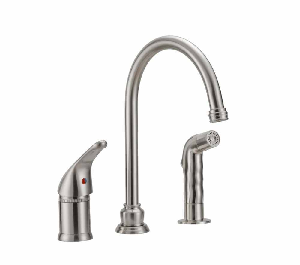 Single Handle Rv Kitchen Faucet With Side Spray Nozzle
