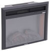 greystone rv fireplaces recessed mount fireplace flat front 26 inch electric with logs - black