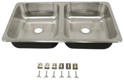 "25"" x 15"" Double Bowl Sink - Stainless Steel"