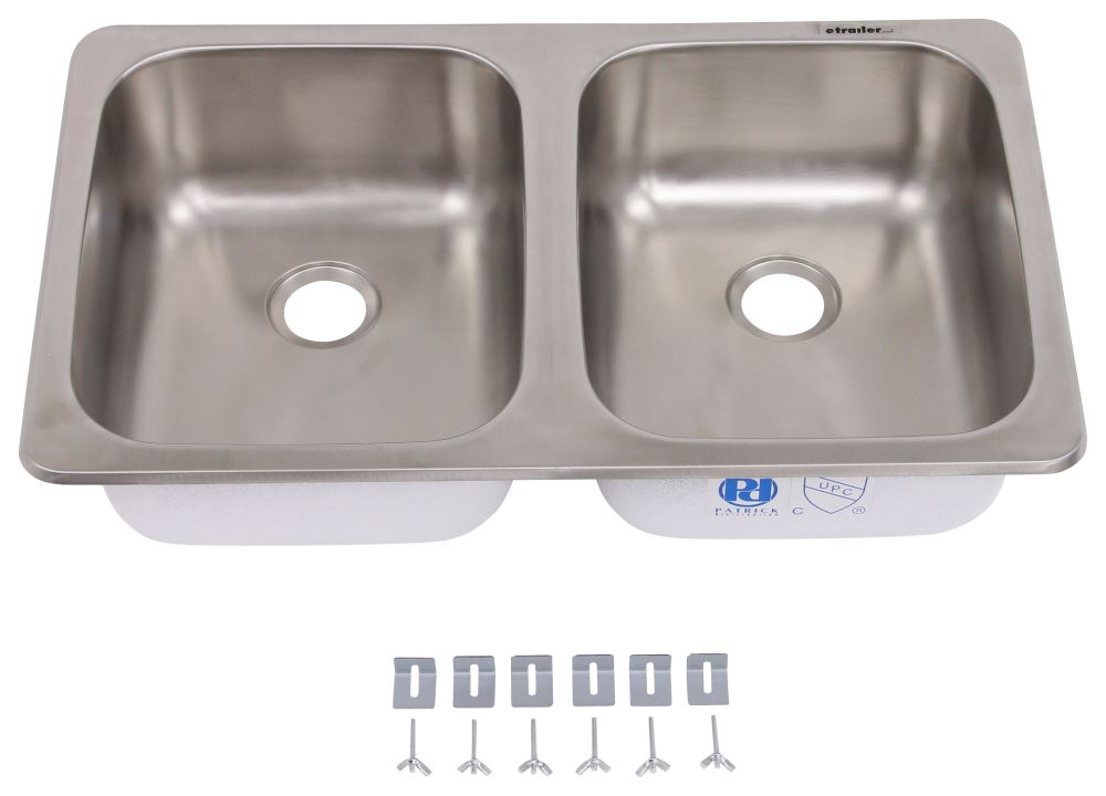 25 Quot X 15 Quot Double Bowl Sink Stainless Steel Patrick