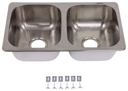 "27"" x 16"" Double Bowl Sink - Stainless Steel"