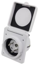 Epicord 30 Amp Twist Lock Power Inlet - White