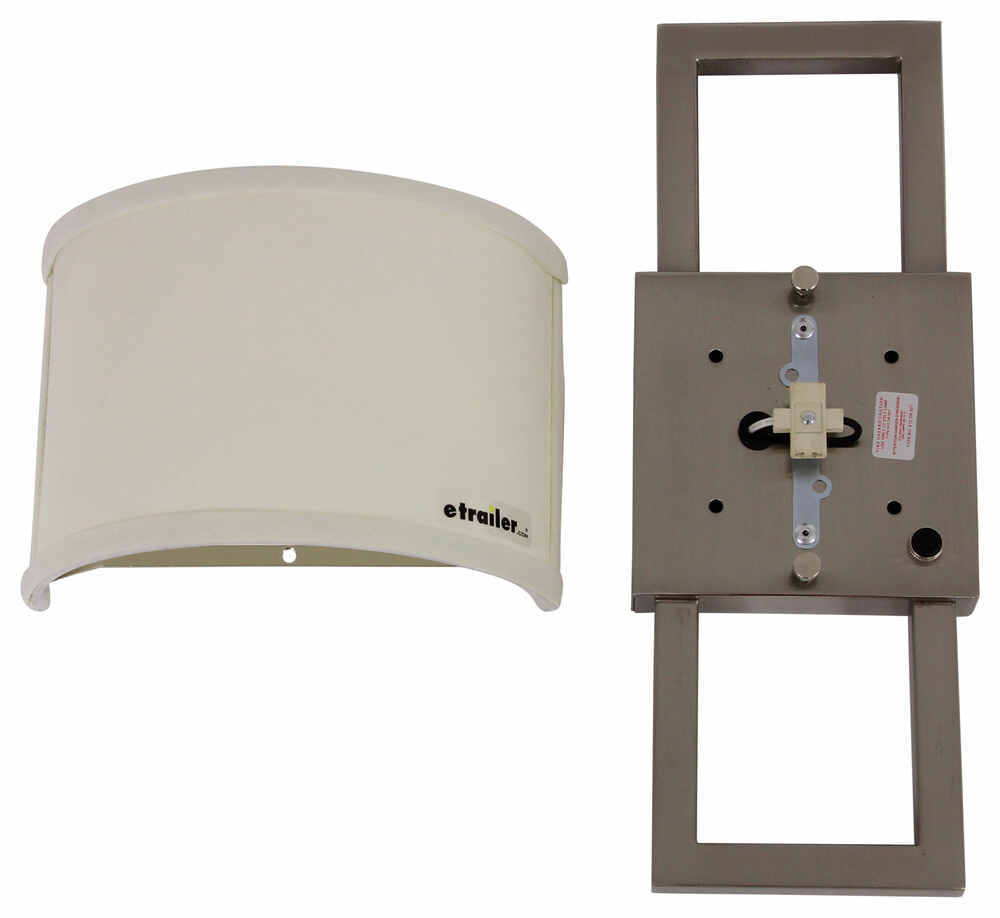 Gustafson RV Wall Sconce w/ Half Shade - Satin Nickel Gustafson Lighting RV Lighting 277-000235-236