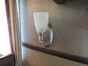 Gustafson RV Sidewall Light - Satin Nickel - Frosted White Glass Built-In Switch 277-000254
