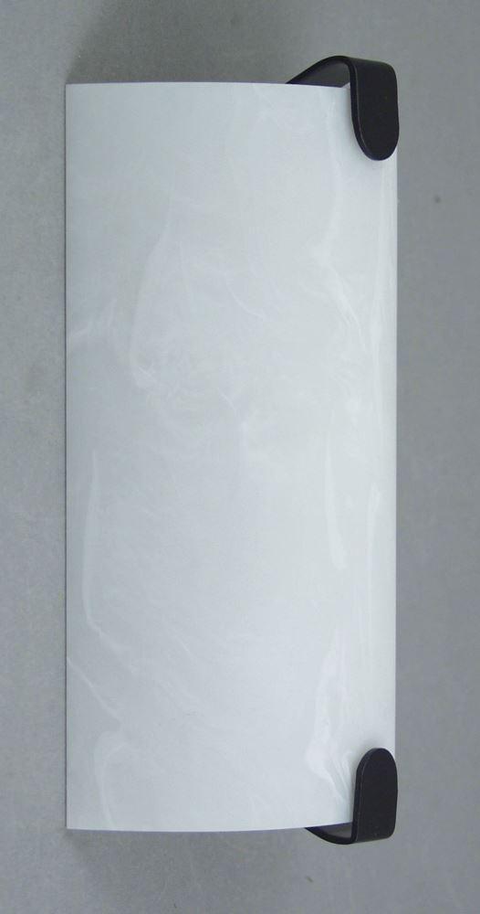 Gustafson RV Wall Sconce - Black Accents - White Acrylic Shade Gustafson Lighting RV Lighting ...