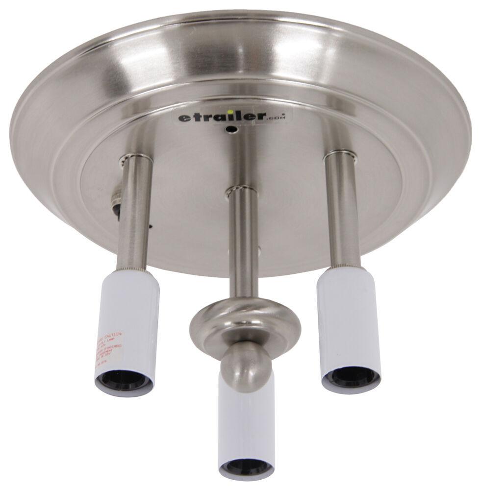 Gustafson Rv Ceiling Light Satin Nickel 3 Light