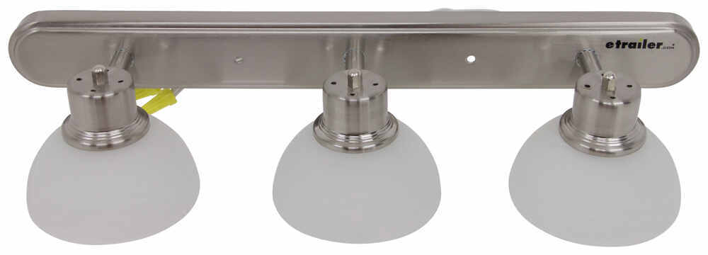 Gustafson RV Vanity Light - Satin Nickel - 3 Arm - Frosted White Glass Gustafson Lighting RV ...