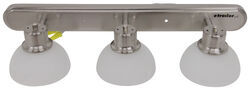 Gustafson RV Vanity Light - Satin Nickel - 3 Arm - Frosted White Glass