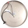 gustafson lighting rv ceiling light led w/ glass shade - satin nickel 10 inch