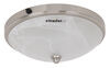 "Gustafson RV Ceiling Light w/ Glass Shade - Satin Nickel - 10"" - LED"