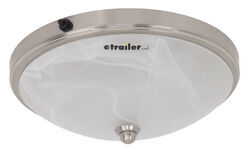 Gustafson RV Ceiling Light w/ Glass Shade - Satin Nickel - 10  - LED  sc 1 st  eTrailer.com : rv luminaire lighting - www.canuckmediamonitor.org