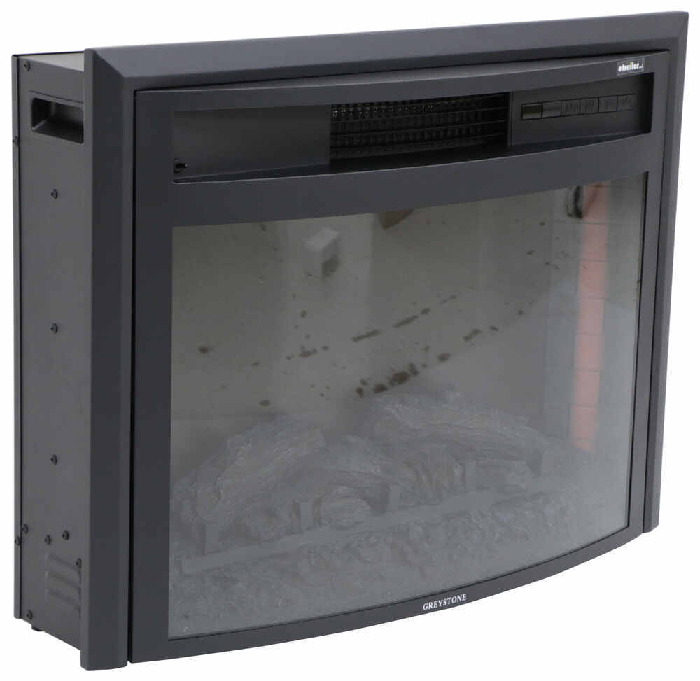 Greystone 26 Quot Curved Electric Fireplace With Logs