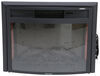 "Greystone 26"" Curved Electric Fireplace with Logs - Recessed Mount - Black Logs 324-000066"