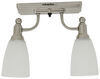 Gustafson RV Ceiling Light - Satin Nickel - 2 Arm - Frosted White Glass 8L x 4-1/2W Inch 277-000401
