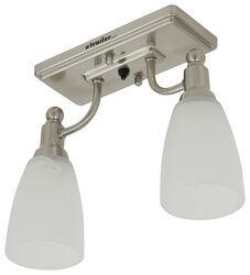 Gustafson RV Ceiling Light - Satin Nickel - 2 Arm - Frosted White Glass. Gustafson Lighting RV Lighting  sc 1 st  eTrailer.com & Gustafson Lighting RV Lighting 277-000401 Review Video | etrailer.com azcodes.com