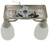Gustafson RV Ceiling Light - Satin Nickel - 2 Arm - Frosted White Glass Built-In Switch 277-000401