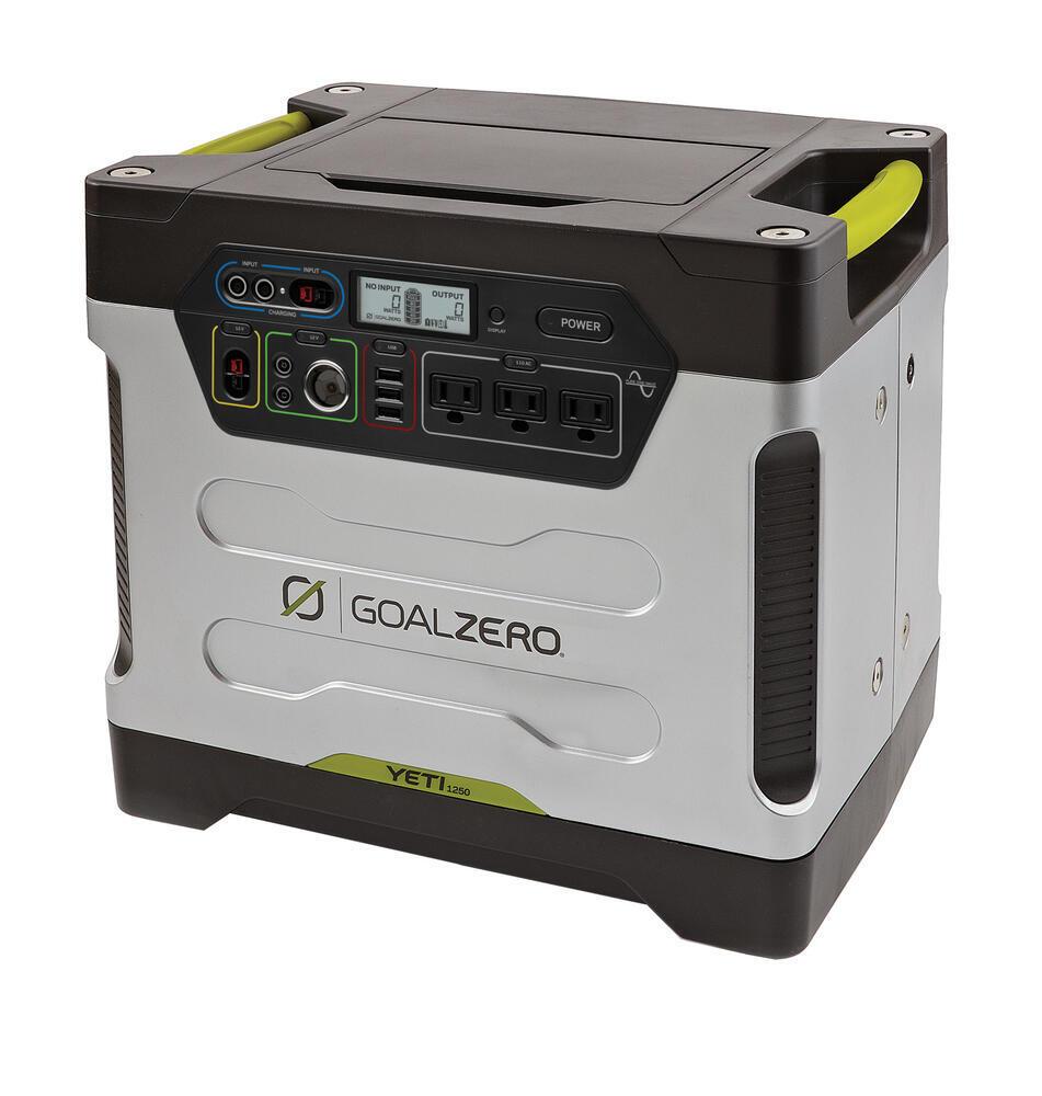 Goal Zero Yeti 1250 Solar Generator Kit 110 Volt Goal