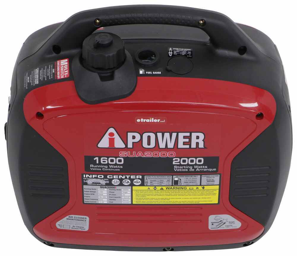 A Ipower 2000 Watt Portable Inverter Generator 1600 Running 40 Amp Rv Wiring Diagram Watts Gas Manual Start Generators 289 Sua2000i