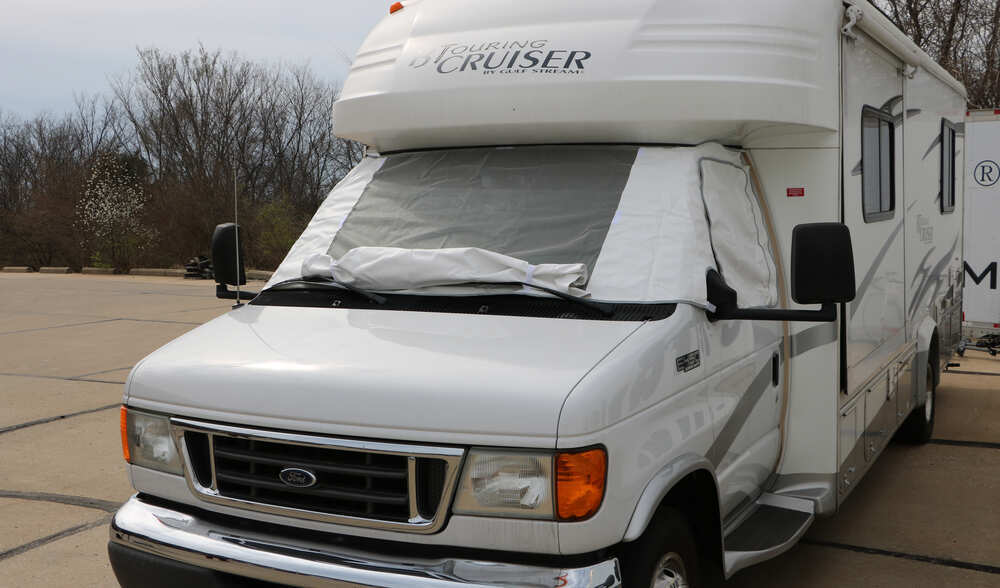 Covers For Rv Motorhomes : Adco deluxe windshield cover for class c motorhome vinyl