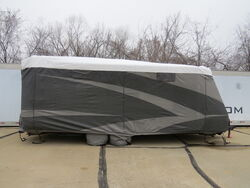 Adco RV Cover w/ Tyre Gards for Travel Trailers - All-Climate + Wind - Tyvek - 22' Long