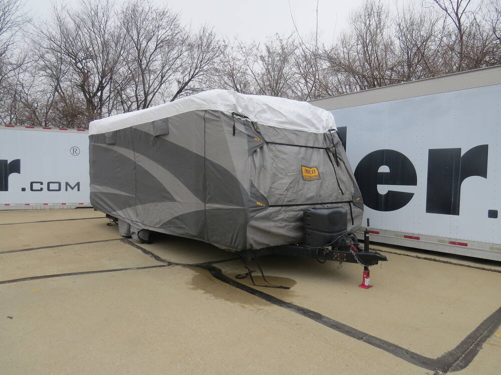 Adco Tyvek All-Climate + Wind RV Cover for Travel Trailer - Up to 22' Long  - Gray