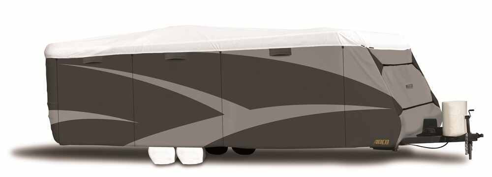 Adco Tyvek All-Climate + Wind RV Cover for Travel Trailer - Up to 24' Long - Gray Travel Trailer Cover,Toy Hauler Cover 290-34842