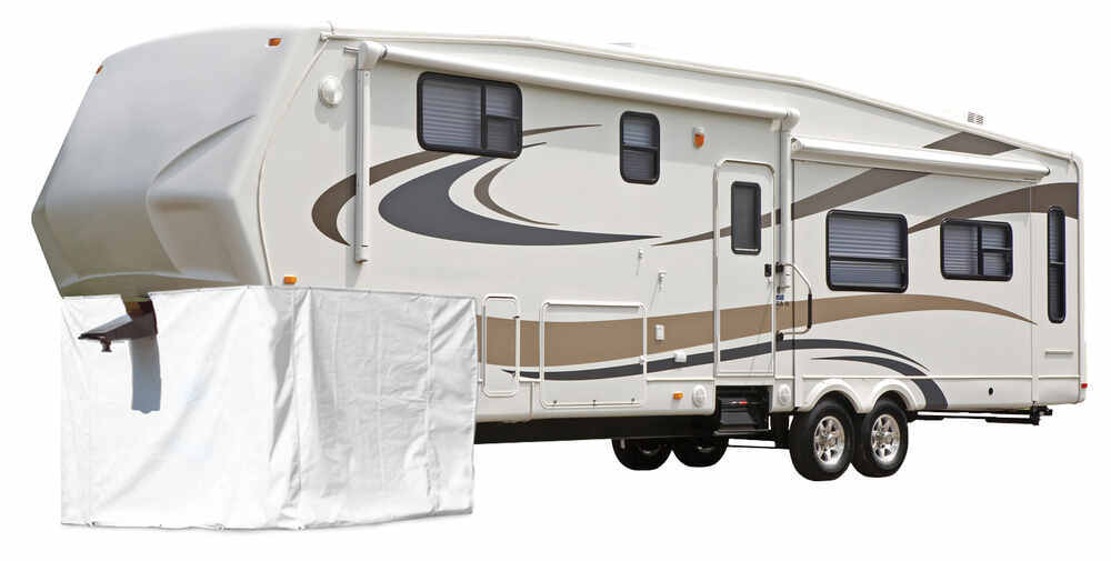 Adco Storage Skirt for 5th Wheel RV - Vinyl - White - 266